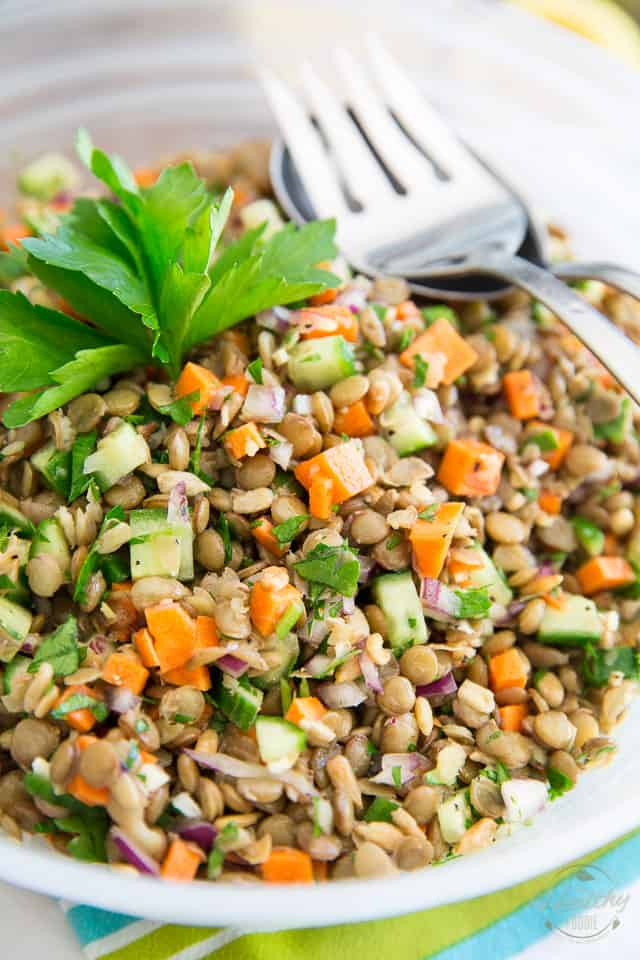 Green Lentil Salad by Sonia! The Healthy Foodie | Recipe on thehealthyfoodie.com