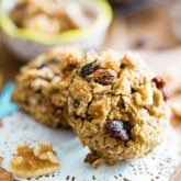Refined Sugar Free Healthier Oatmeal Cookies - made with nothing but good, wholesome ingredients, they're a treat that you can eat practically without gilt!