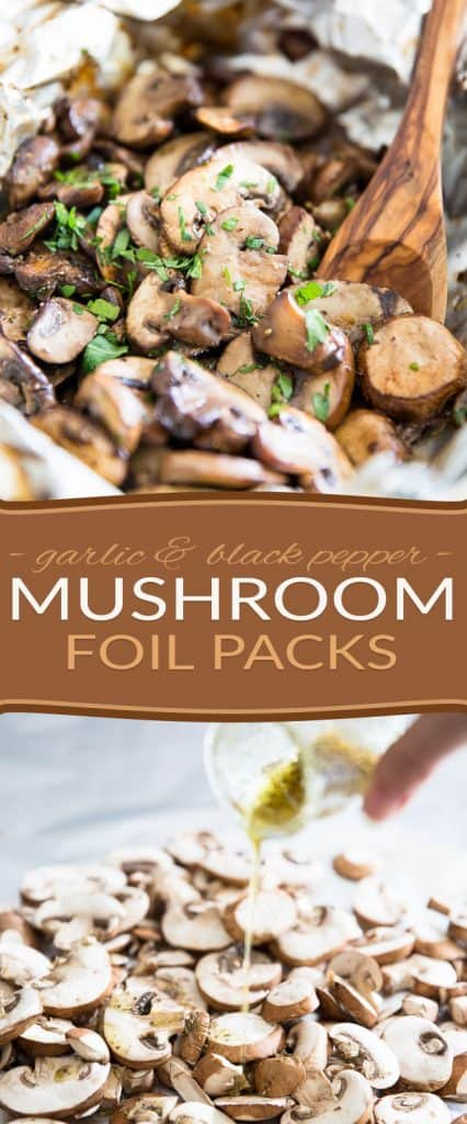 If you're a fan of serving sauteed mushrooms with your grilled meat or hamburgers, you will adore this mushroom foil pack!