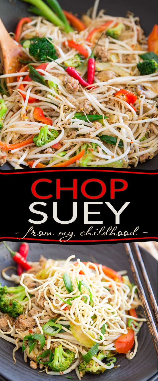 No fuss, no mess, plain and simple Chop Suey; just like my mom used to make... So good, your kids will ask that you add it to your regular rotation.