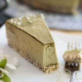 Healthy Option Coconut Matcha Cheesecake by Sonia! The Healthy Foodie | Recipe on thehealthyfoodie.com