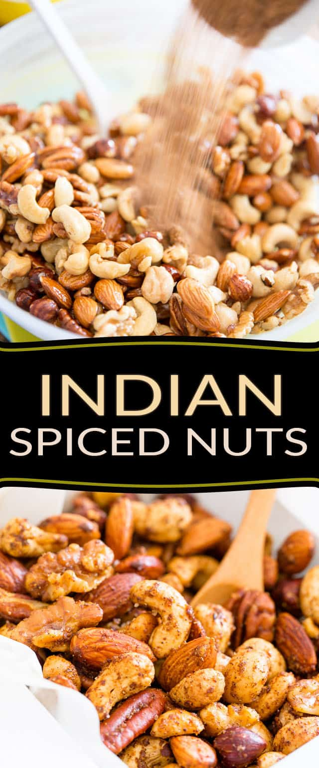 Warning: These Indian Spiced Nuts are so crazy delicious and addictive, they're kinda dangerous to have around the house. You better plan on making friends!