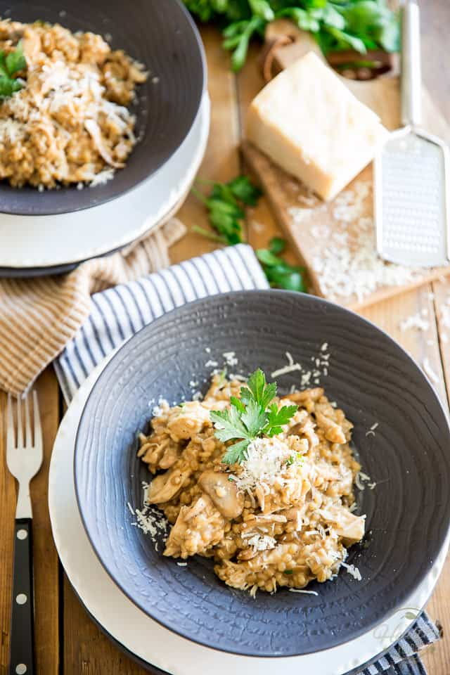 If you are a fan of traditional risotto, then you will fall head over heels for this Creamy Chicken Mushroom Barley Risotto.Try it - you'll never go back!