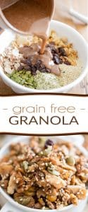 While this grain free granola might not be your typical morning cereal, its very intriguing flavor profile and unparalleled crunchy texture will no doubt win you over!