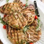 Maple Rosemary Grilled Pork Chops by Sonia! The Healthy Foodie   Recipe on thehealthyfoodie.com