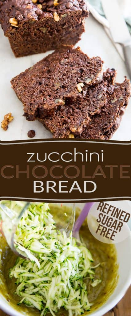 So good, so moist, so tasty, so insanely delicious, no one's ever going to believe that this Zucchini Chocolate Bread is made with nothing but wholesome ingredients and is actually good for them...