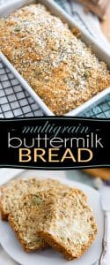 Quick, Easy, No Yeast required Multigrain Buttermilk Bread - So delicious and easy to make, you probably won't want to buy bread at the store anymore!