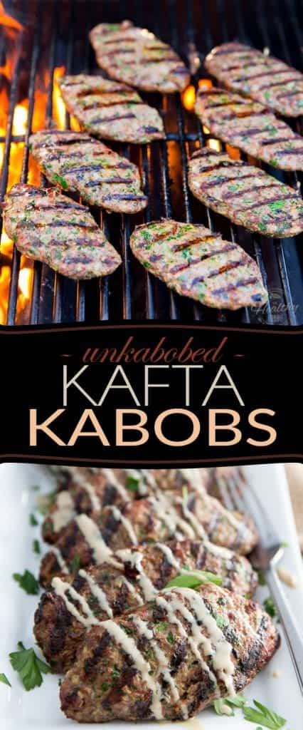 Unkabobed Kafta Kabobs: All the great flavor of Kafta Kabobs - no special tools required! Even the outdoor grill is optional... Desirable, but optional!