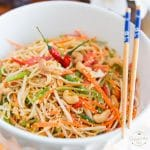 Peanut Butter Sesame Asian Noodle Saladby Sonia! The Healthy Foodie | Recipe on thehealthyfoodie.com