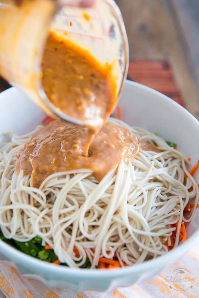 Peanut Butter Sesame Asian Noodle Salad by Sonia! The Healthy Foodie | Recipe on thehealthyfoodie.com