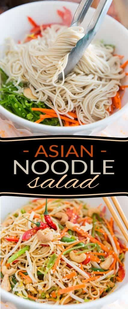 Bring a touch of exoticism to your table with this delicious and super easy to make Peanut Butter Sesame Asian Noodle Salad