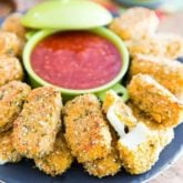 Baked Mozzarella Sticks by Sonia! The Healthy Foodie | Recipe on thehealthyfoodie.com