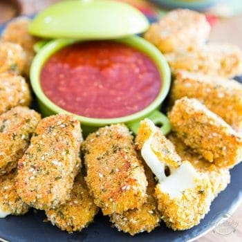 Healthier Baked Mozzarella Sticks
