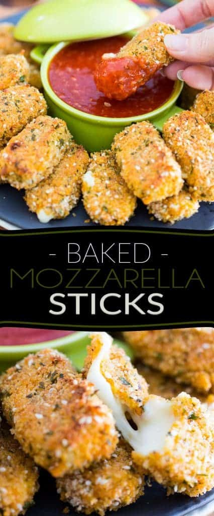 These Baked Mozzarella Sticks are a much healthier and much easier to make version of a great party classic! Now there's no reason not to indulge!