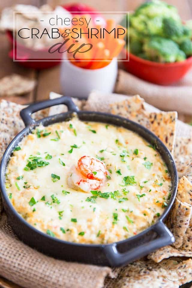 Cheesy Crab & Shrimp Dip by Sonia! The Healthy Foodie | Recipe on thehealthyfoodie.com