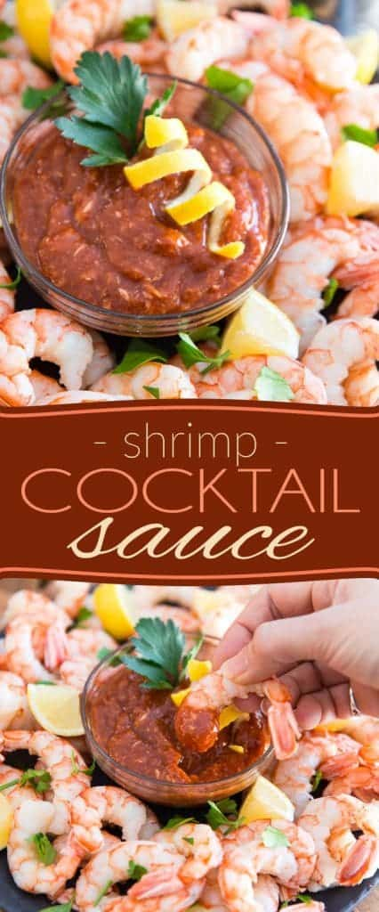 Cooking your own shrimp and making your own Shrimp Cocktail Sauce is such a breeze, and so much tastier, you'll never ever go for store-bought again.