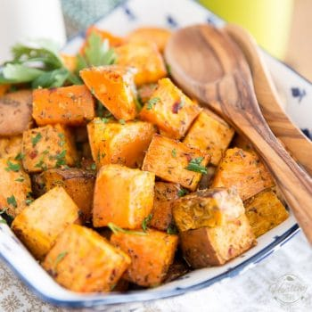 Herbed Oven Roasted Sweet Potatoes