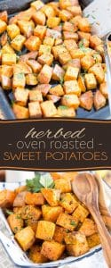 Herbed Oven Roasted Sweet Potatoes by Sonia! The Healthy Foodie | Recipe on thehealthyfoodie.com