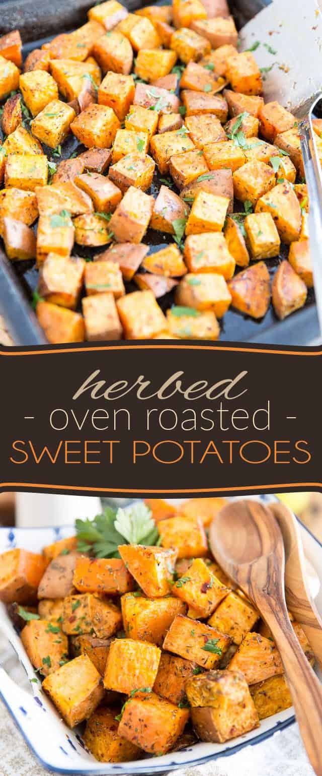 So delicious and easy to make, these Herbed Oven Roasted Sweet Potatoes deserve to be given a prime spot in your plate on a regular basis! And once you've given them a try, you'll want to do just that, I swear...