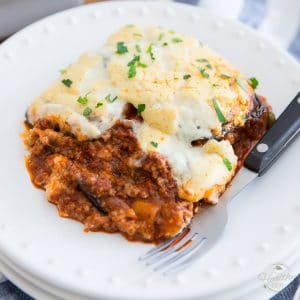 Moussaka – aka – Kicked-Up Eggplant Lasagna