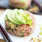 Tuna Bulgur Tartare by Sonia! The Healthy Foodie