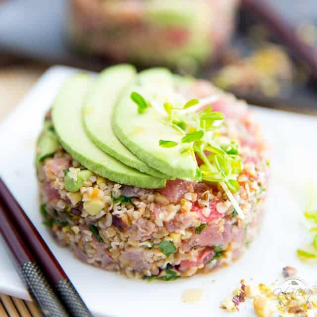 Tuna bulgur tartare the healthy foodie for Is tuna fish healthy