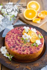Simple and elegant, perfect for any occasion, this gluten-free Upside-Down Cranberry Orange Cake is a truly versatile dessert that tastes a little bit like Christmas but that's so light and refreshing, you could just as well serve it on a hot summer day!