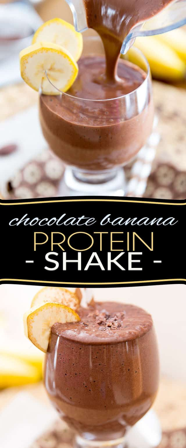 So simple to make and such a classic flavor combo, this extra rich and creamy Chocolate Banana Protein Shake sure will satisfy after a hard workout, or will start your day on the right foot!