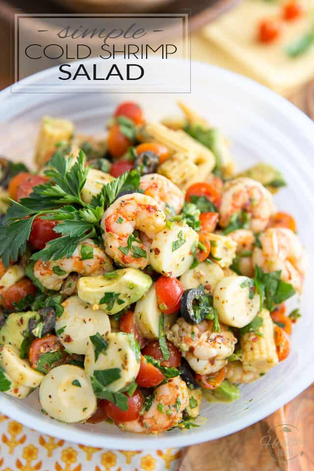 Simple Cold Shrimp Salad The Healthy Foodie
