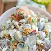 Loaded with so many different flavors and textures, this Creamy Apple Feta Potato Salad is sure to be a crowd pleaser at your next picnic, potluck or party! No need to tell anyone there that it's actually good for them. That'll be our little secret!