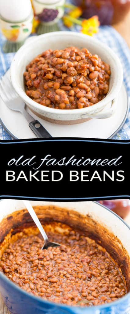 Sweet, creamy, filling and so simple to make, these Old Fashioned Baked Beans are the perfect companion to your morning eggs and will make any morning that much brighter! Try them once, you'll never reach for the canned stuff ever again!