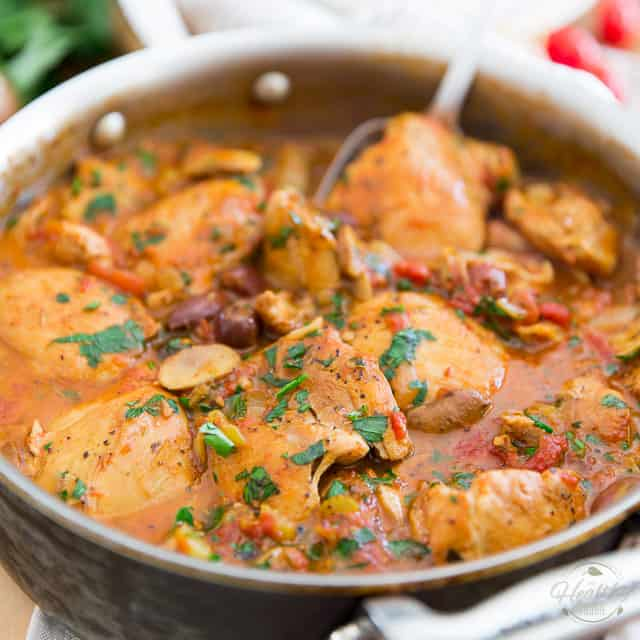 Boneless Chicken Cacciatore • The Healthy Foodie