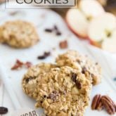 Free of any added sugar, made with nothing but wholesome ingredients, these Healthy Oatmeal Cookies are so good for you, you could almost think of them as a bowl of oatmeal in a portable form... perfect for those busy mornings or for a quick snack on the go!