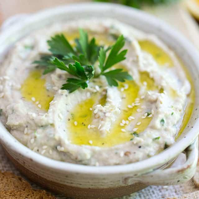 0a44615c92f Baba Ghanouj - Creamy Eggplant Dip • The Healthy Foodie