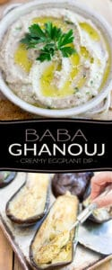 Baba Ghanouj is a creamy eggplant dip that's not only super delicious but also crazy good for you! Finally a dip you can enjoy absolutely guilt free! Try it with veggies, pita bread or your favorite crackers!