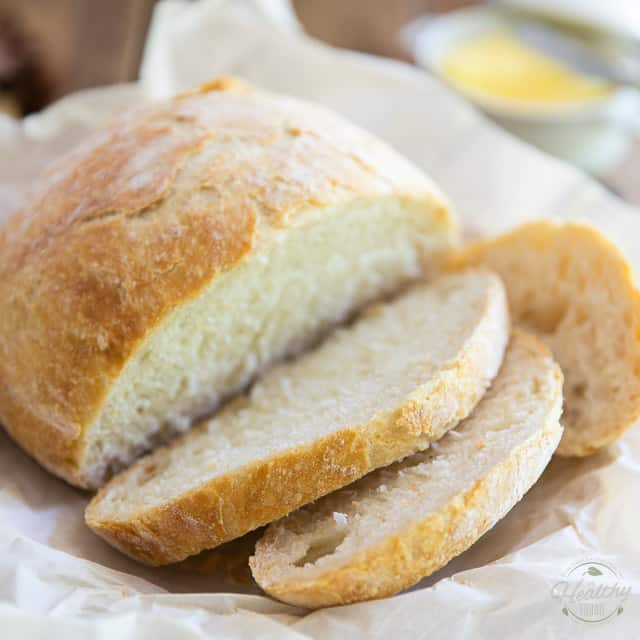 No Knead Dutch Oven Bread • The Healthy Foodie