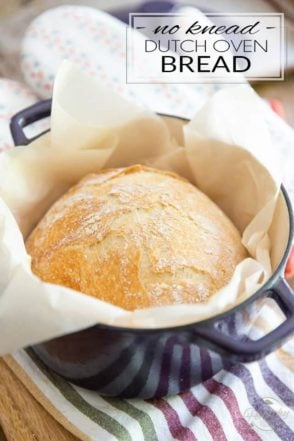 Not only is this No Knead Dutch Oven Bread the easiest bread you'll ever bake, it's also one of the best you'll ever eat! It's melt-in-your mouth soft on the interior with a super crispy, crunchy, almost flaky crust and tons of flavor, to boot! So good, a little butter is all it needs...