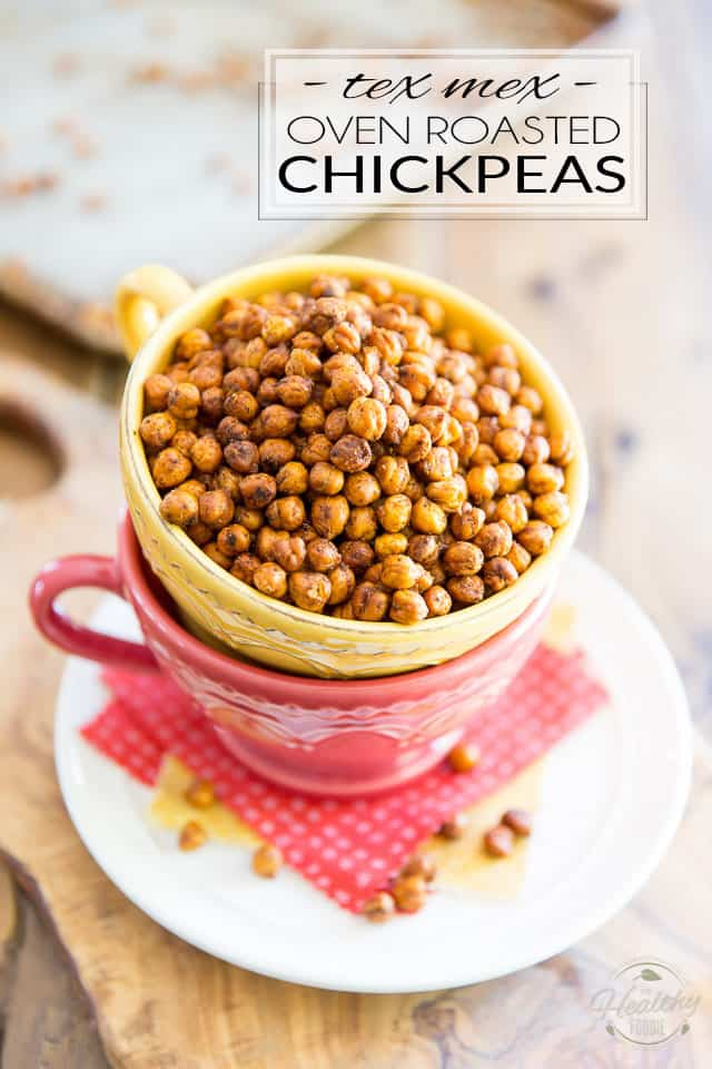 These Tex Mex Oven Roasted Chickpeas make for a uniquely delicious, healthy, easy to make and crazy addictive little snack! Perfect for any occasion, you'll want to have some on hand all the time!