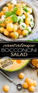 Ready in mere minutes, this super tasty Cantaloupe Bocconcini Salad is so refreshing, it's guaranteed to be a true favorite this summer!