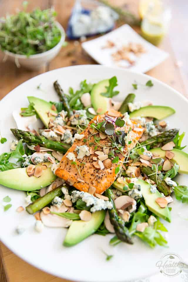 Who says cooking for one needs to be uninspiring? Quick and easy to make, this restaurant worthy Grilled Salmon Blue Cheese Salad is so good, you'll wish you were eating alone more often!