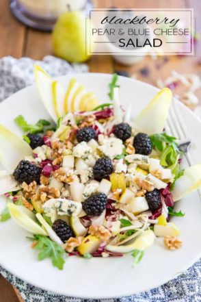 A veritable explosion of flavors, this refreshing Blackberry Pear and Blue Cheese Salad tastes so good, it might as well be candy! If you are a fan of blue cheese, then you're in for a serious treat!