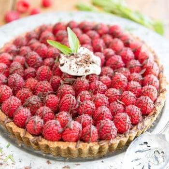 Gluten Free Raspberry Chocolate Pie