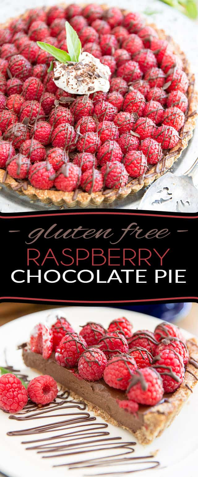 Not only is it free of gluten or refined sugar, this Raspberry Chocolate Pie also happens to be made with a whole bunch of natural, good for you ingredients! The perfect refreshing guilt-free desert of the summer!