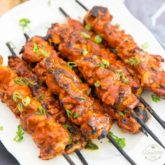 If you are a fan of Fiery Buffalo Wings, then you will be all over these Buffalo Chicken Skewers. You get all the same amazing fiery flavor, but so much more juicy, tender chicken meat per bite!