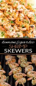 Take your shrimp to the next level with these quick and easy but oh so tasty Lemon Garlic Shrimp Skewers. They will be your grill's best friend this summer!
