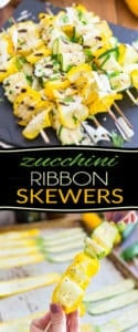 These Zucchini Ribbon Skewers are so elegant and pretty to look at, even non zucchini lovers are going to be all over them!