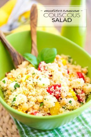 Filled with all kinds of good-for-you ingredients, this Mediterranean Couscous Salad is as quick and easy to make as it is nutritious and delicious to eat!