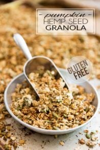 You won't believe how easy this Gluten Free Pumpkin Hemp Seed Granola is to make! Try it once, you'll never want to get the store-bought stuff ever again!