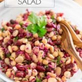 This bean salad is ready in mere minutes so it's perfect for those occasions when you have no time to cook. Not only that, but it also happens to be a simple and tasty way to add more beans to your diet!