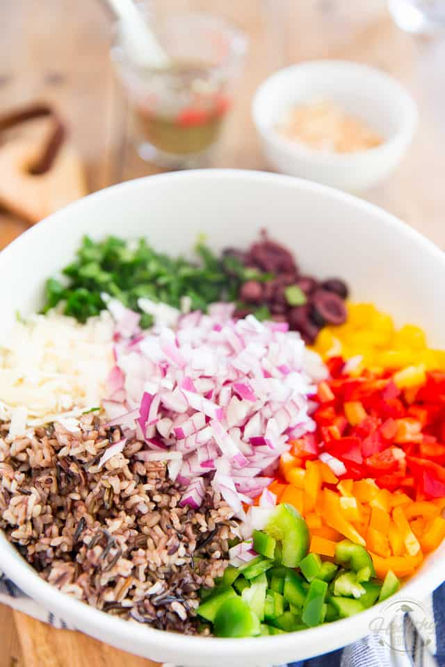 As tasty as it is colorful, filled with all kinds of nutritious ingredients, this Bell Pepper Wild Rice Salad makes for a perfect side dish or light vegetarian meal!